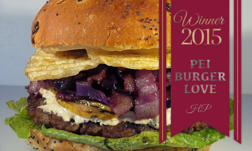 Winner 2015 PEI Burger Love The Home Place Inn & Restaurant